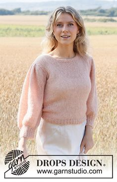 Drops Design, Knitting Patterns Free, Free Knitting, Footprints In The Sand, Magazine Drops, Tauriel, Crochet Diagram, Work Tops, Pullover