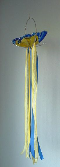 Stained Glass Butterfly Windsock