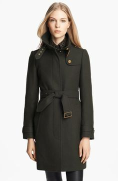 Burberry Brit 'Rushworth' Belted Wool Blend Coat $995.00