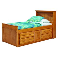 Shop for Woodcrest Heartland Bookcase Twin Captains Bed with Storage. Get free…