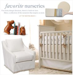 This would be adorable for a boy or girl, and the child would grow into it! Nursery Bedding & Nursery Decor | Serena & Lily