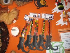 Witches Leg Halloween Favor (using pencils or Candy)