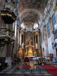 Interiors of the Cathedral of St. Peter and St. Paul (Katedrala sv Petra a Pavla - Petrov), Brno, Czech Republic