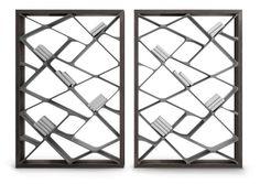 A estante Shangai, da Alivar, tem design de Giuseppe Bavuso, possui prateleiras que formam uma composição geométrica. Seu interior é feito com Ductal Cement, um material composto de fibras orgânicas recicláveis, com garantia de durabilidade de, pelo menos, 50 anos. Segundo o fabricante, as cores do produto não sofrem alteração, mesmo expostas aos raios solares. A parte exterior é feita em madeira de carvalho