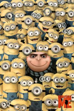 Despicable Me Gru and his Minions Poster.im sooo obsessed with these minions! Minions Despicable Me, Amor Minions, Despicable Me Party, Minions Love, Minion Party, My Minion, Minion Games, Minions 2014, Minions Pics