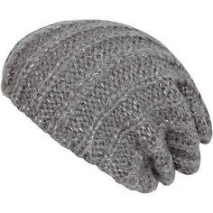 grey rib beanie - hats - accessories - women - River Island $10