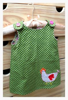 One Hour Pinafore Dress Pattern by jumpingjackcrafts on Etsy, $6.00