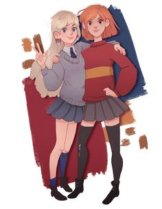 Its Ginny and Luna forever, Gryffinclaw girlfriends  https://totallyknuts.bandcamp.com/track/gryffinclaw-girlfriends
