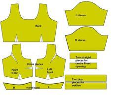 Princess cut blouse cutting and make a simple sari blouse saree blouse tutorial long blouse cutting and sching in Saree Blouse Tutorial Blouse Cutting And Sching Tutorial S … Beginner Sewing Patterns, Dress Sewing Patterns, Free Sewing, Blouse Sewing Pattern, Choli Pattern, Pattern Drafting Tutorials, Dress Sewing Tutorials, Beginners Sewing, Tutorial Sewing