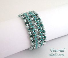 Tutorial ODuo Bracelet  Beading Pattern Instant download by Ellad2, $6.00
