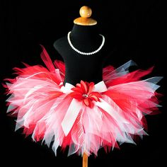 Red White Christmas Tutu...Candy Cane by TutuGorgeousGirl on Etsy, $42.00