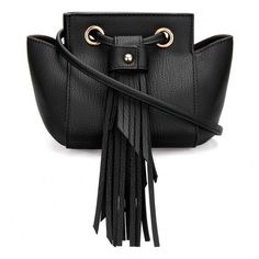 Yoins Mini Cross Body Bag in Black with Tassels (57.615 COP) ❤ liked on Polyvore featuring bags, handbags, shoulder bags, black, shoulder strap bags, mini crossbody handbags, hand bags, mini crossbody purse and handbags shoulder bags