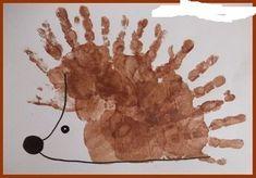 Top 40 Beispiele für Büttenpapier-Events - Everything About Kindergarten Kids Crafts, Fall Crafts For Toddlers, Daycare Crafts, Craft Activities For Kids, Toddler Crafts, Autumn Crafts, Autumn Art, Hedgehog Craft, Thanksgiving Preschool