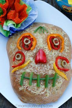 Día de Muertos Foccacia Style Bread #GoAutentico #DiadelosMuertos