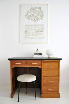 Bureau comptable - Bureau bois - Mobilier vintage - Bel Ordinaire