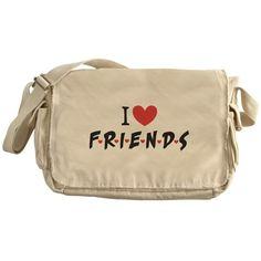 I heart Friends TV Show Messenger Bag
