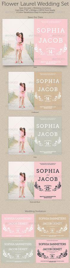 Flower Laurel Wedding Set
