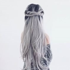 Long Black To Grey Ombre Straight Synthetic Lace Front Wig - FashionLoveHunter Grey Hair Beard, Grey Hair Wig, Lace Hair, Blonde Hair, Pelo Color Gris, Hair And Beard Styles, Long Hair Styles, Ombre Hair Color, Black Grey Ombre Hair