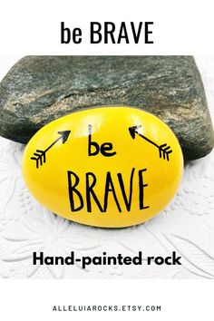 These hand-painted rocks offer words of affirmation, encouragement, and support! #paintedrocks #rockpainting #affirmations #enouragement Rock Sayings, Inspirational Rocks, Beach Rocks, Beach Stones, Simple Aesthetic, Hand Painted Rocks, Painted Stones, Craft Activities For Kids, Craft Ideas
