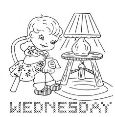 7187 Busy Children for Days of the Week towels PDF by BlondiesSpot