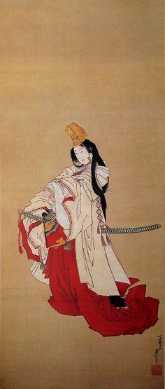 Shirabyoshi dancer by Katsushika Hokusai