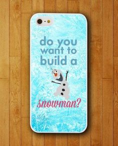 Disney Frozen Snowman Do You Want To Buit It iPhone Skin Protector for iPhone 4 4S 5 5S 5C ☺  ☂ ☺. ☻