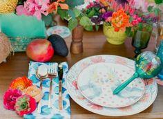 Carmen Miranda Gets Married inspiration. Table setting love.