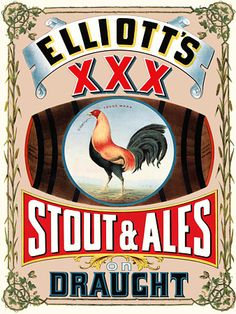 Vintage Advertising Poster Stout and Ale