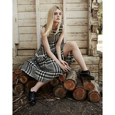 The Edit Magazine September 2015 Elle Fanning by Billy Kidd ❤ liked on Polyvore featuring elle fanning