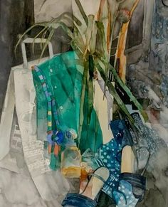 "Nicholas Bowlby on Instagram: ""Shirley Trevena R.I. 'Green Shirt and High Heels'. Watercolours. Exhibited: The Royal Institute of Watercolours 1998. Exhibited: Francis…"" Shirley Trevena, Green Shirt, Watercolours, High Heels, Gallery, Instagram, Art, Art Background, Roof Rack"