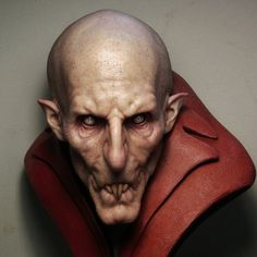 Vampires are among us!!! Creepy Vampire bust, sculpted and painted ...