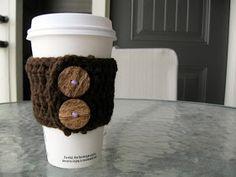 ContentEwe: Crocheted Coffee Sleeve
