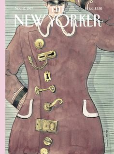 "The New Yorker - Monday, November 17, 1997 - Issue # 3775 - Vol. 73 - N° 35 - Cover ""Locked Up"" by Barry Blitt"