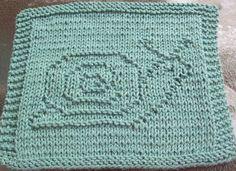 DigKnitty Designs: Snail Knit Dishcloth Pattern