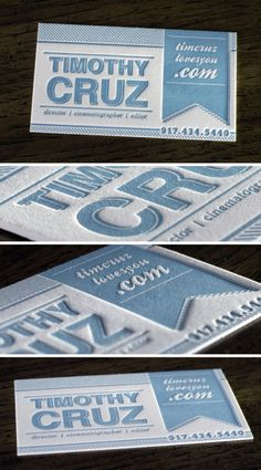 Letterpress business card #design #inspiration @identoty ~1eyeJACK~