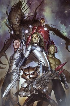 GUARDIANS OF THE GALAXY #1 COVER ART - LIMITED EDITION EXCLUSIVE by Adi Granov