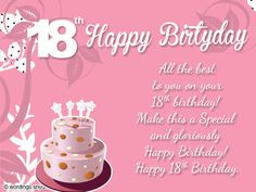18Th Birthday Quotes Pleasing 18Th Birthday Wishes For Son Or Daughter Messages From Parents To