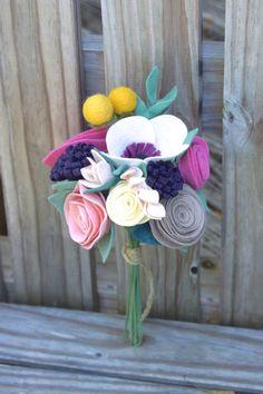 Войлок букет подружки невесты девушки цветка по roundtherosies