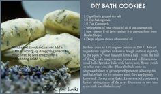DIY Bath cookies