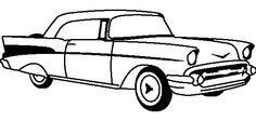 Chevrolet Corvette 1955 Coloring Page - Corvette car coloring pages