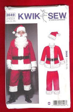 Kwik Sew 3649 Santa Suit Hat Jacket Pants and Belt by lucysbud