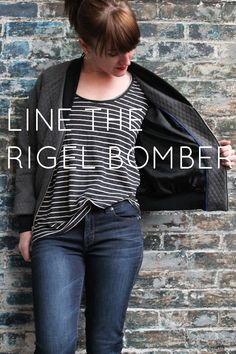 Rigel Bomber January motivated me to dig through my UFO pile and finally finish this quilted beauty. And I'm so glad to have it in my closet rather thanlanguishing in my very messy sewing space. O...