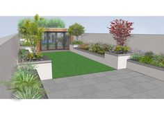 Design concept for a remodelled garden in #Killester, Dublin. The design emphasis on optimizing space whilst retaining a distinct style, natural finishes, enduring textures and easy to maintain planting.  www.owenchubblandscapers.com Dublin, Ireland we design * we build * we care Grand Entrance, Dublin Ireland, Planting, 3 D, Garden Design, Sidewalk, It Is Finished, Concept, Patio
