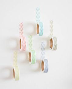 Washi Tape Leaf Design by Bevolee Coral by milkshakeandconfetti