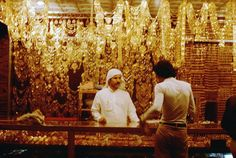 """shopping in the gold souk, Riyadh, Saudi Arabia - I think the term """"DRIPPING WITH GOLD"""" just flew out the window!!!!! me likey, me wanty!"""