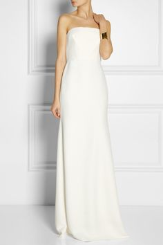 Calvin Klein Collection - Tabata strapless cady gown