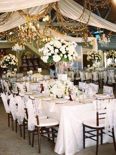 Gorgeous wedding reception centerpiece idea; Featured photographer: Ryan Ray