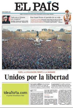 En portada: La masiva manifestación de París en apoyo a Charlie Hebdo; entrevista con Pedro Almodóvar; Gasol, colosal