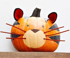 RAWR! What do you think of our pumpking Tiger? Cute or scary? #Halloween