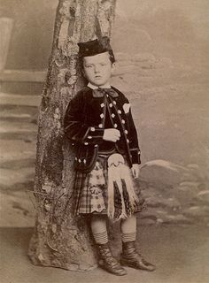 Trimmed Albumen Carte de Visite of Boy in Traditional Scottish Dress, Circa 1865 | Flickr - Photo Sharing!